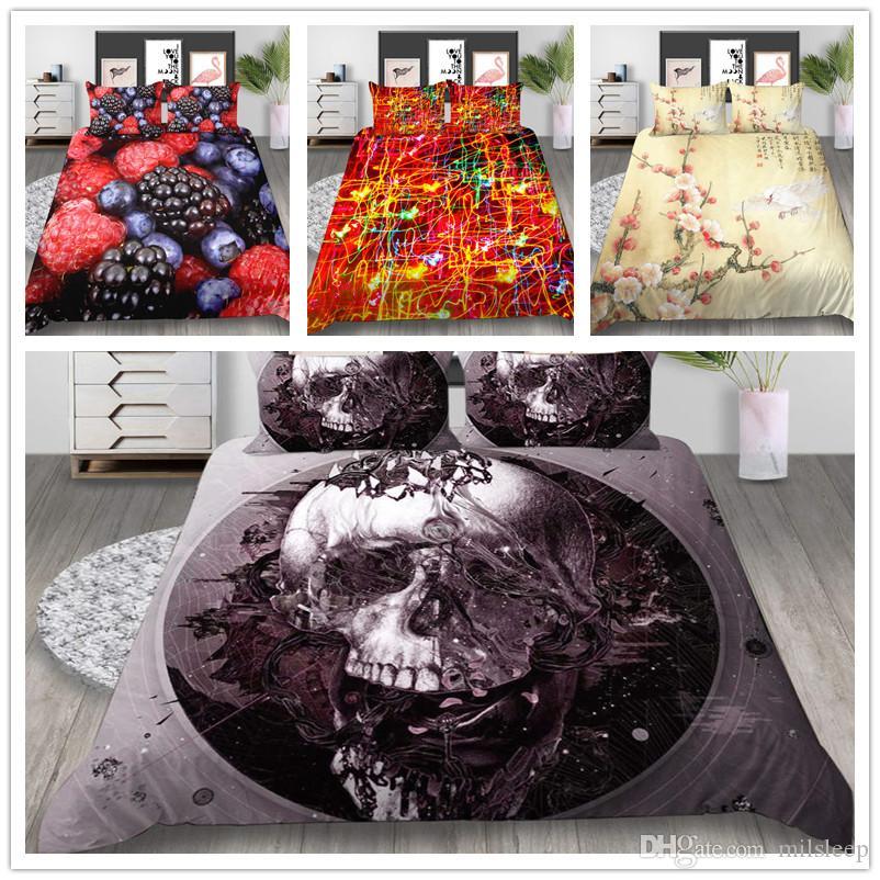 Set di biancheria da letto trapunta con stampa 3D Copripiumino Skull Snack Super Soft Elegante Confortevole per tessuti per la casa di biancheria da letto