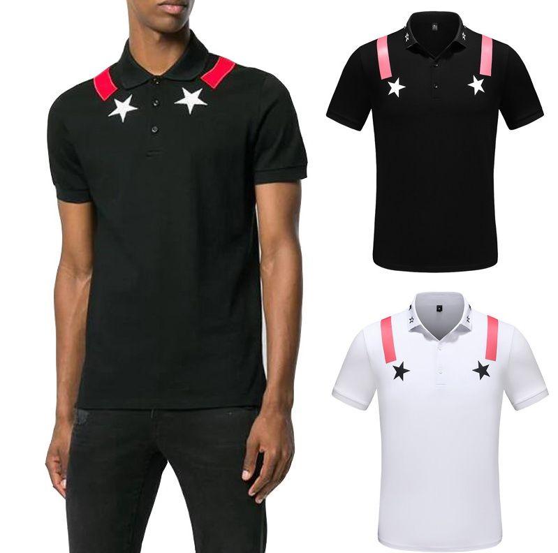 Mens Casual Designer Polo Shirts Summer Short Sleeved Turn Down Collar Short Sleeved Tops Polo Shirts