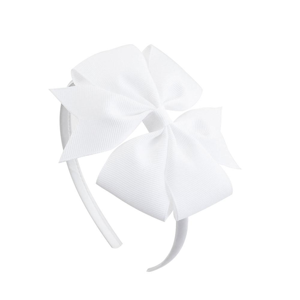 1 Pcs 4 pouces filles Bow Hairband enfants de couleurs Candy Moulinet cheveux avec bande ruban gros-grain Bow Accessoires cheveux 677