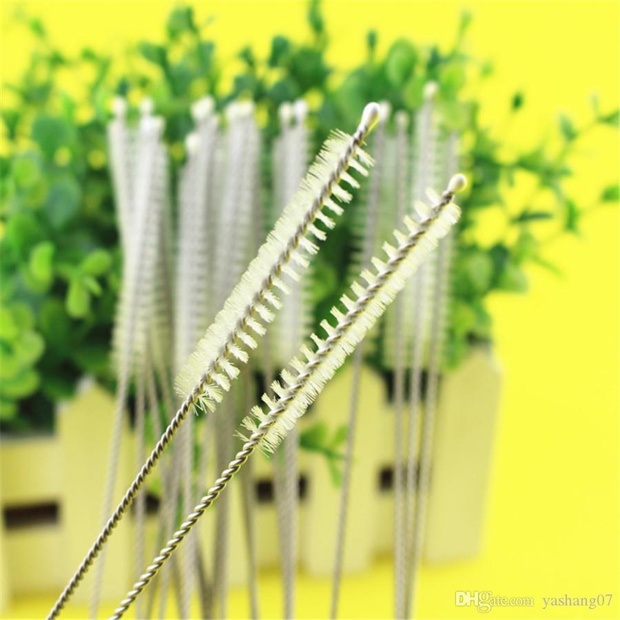 17cm brosses de paille en acier inoxydable Laver les tuyaux de paille potable Brosses de nettoyage Brosse de nettoyage Brosse de paille Livraison gratuite