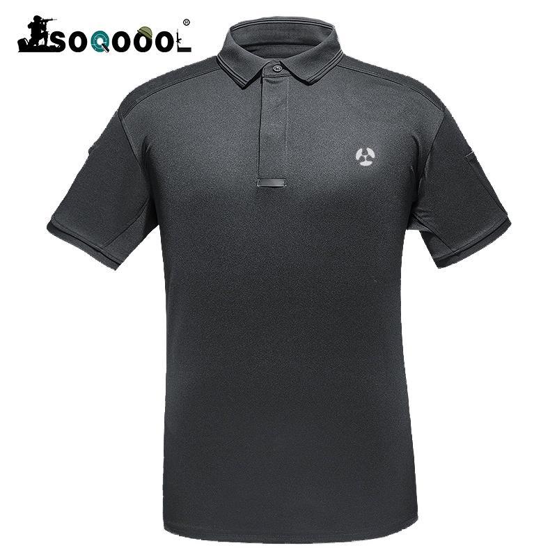 Soqoool Breathstadt Tactical Shirt Männer Sommer Quick Dry-Armee-Mann-Hemd Short Casual Shirts