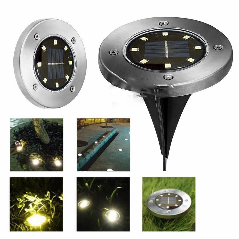 Ledstar 8 LEDs Solar Powered luz impermeable para el hogar patio entrada césped camino tierra cubierta jardín camino