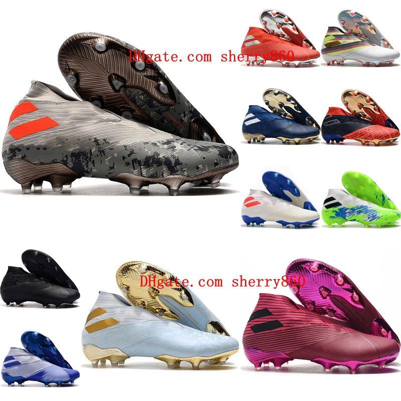 2020 superiore mens scarpe da calcio tacchetti esterni di calcio Nemeziz 19 FG scarpe da calcio Nemeziz tango messi scarpe Calcio