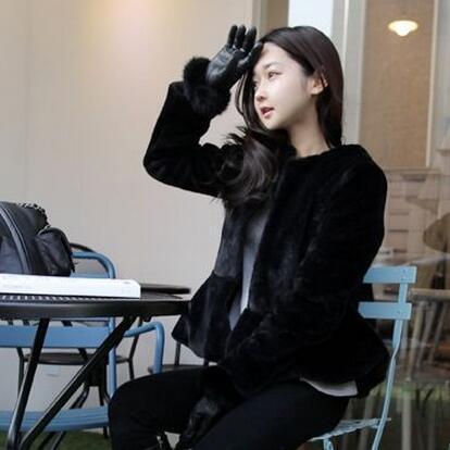 여성 모피 가짜 veetement 겨울 2021 오버 코트 인공 코트 슬림 스커트 Femme Jacke 캐주얼 짧은 모피 outwear ar110