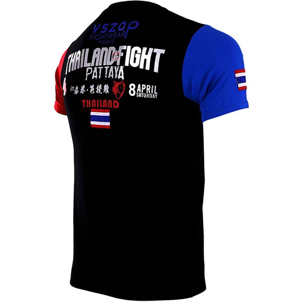 VSZAP MMA Homme T-shirt de boxe Maillots Boxeo T-shirt Fitness Muay Thai Mma manches courtes Gym Arts martiaux Gym Chemises Fightwear