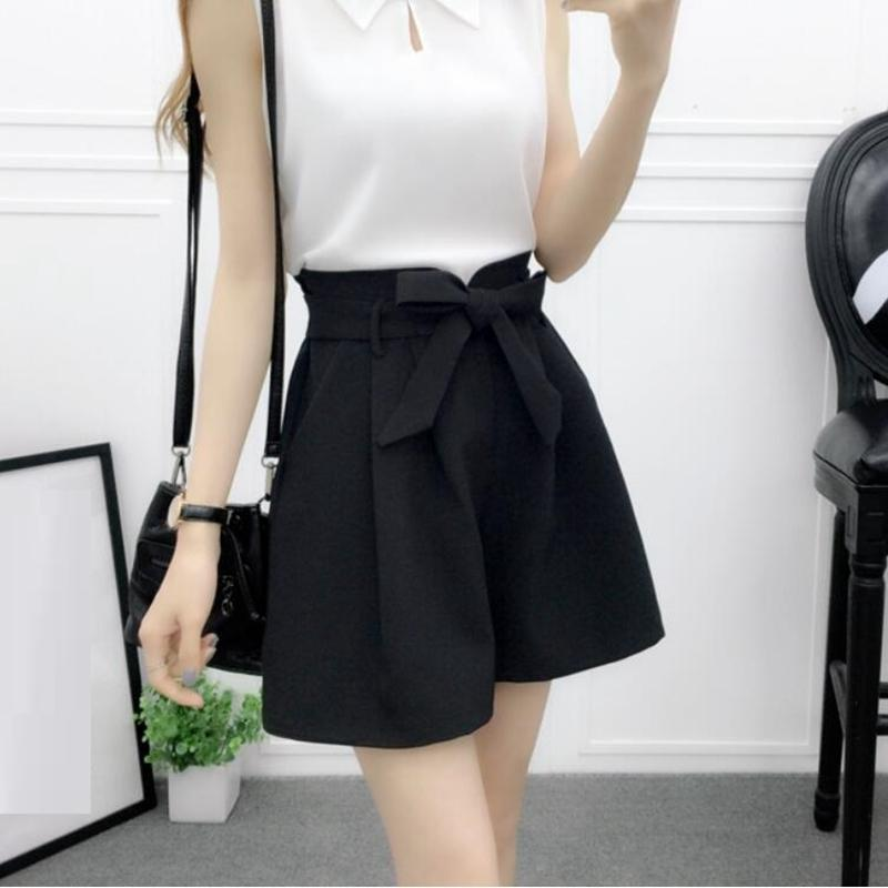 Teenage Kids Big Girls Shorts Hot Pants Chiffon Solid Bow School Children Trousers Girl Clothes Costume Bottoming JW3707 Y200704