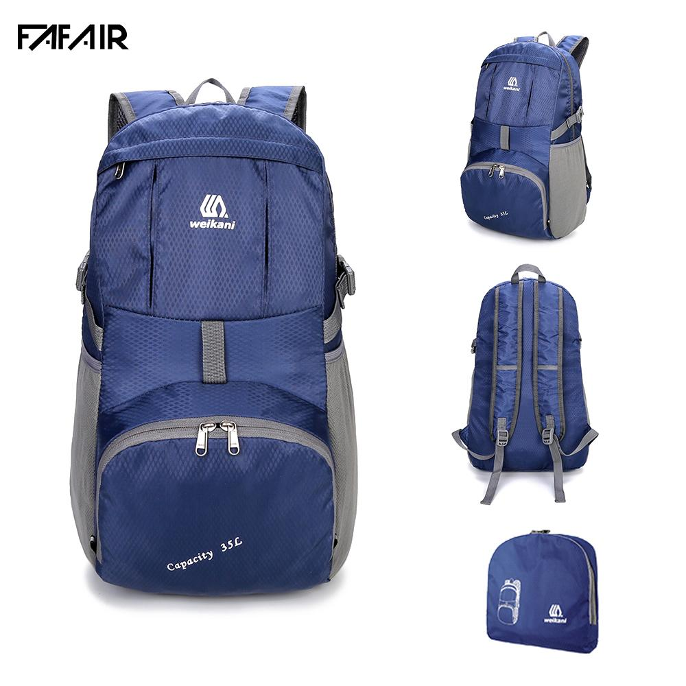 Weikani Waterproof Escalada dobrável Backpack Nylon Outdoor Backpack Sports Folding Bag Homens Mulheres Viagem Caminhadas Backpack