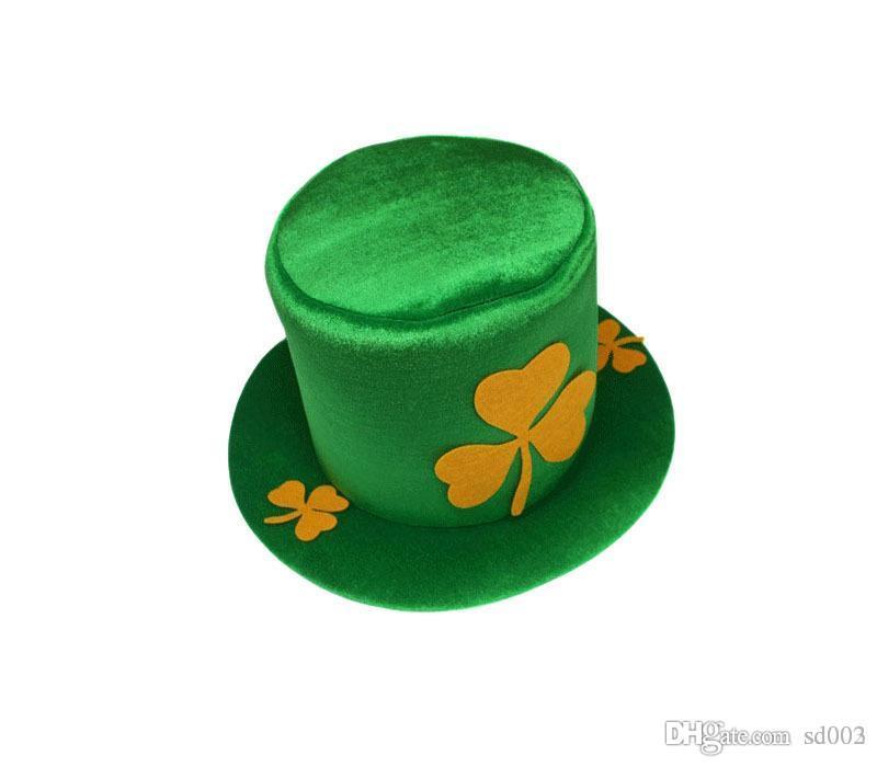 크리스마스 녹색 클로버 모자 세인트 패트릭 데이 아일랜드 남성과 여성 모자 독신 파티 할로윈 카니발 9 5hy A1 공급