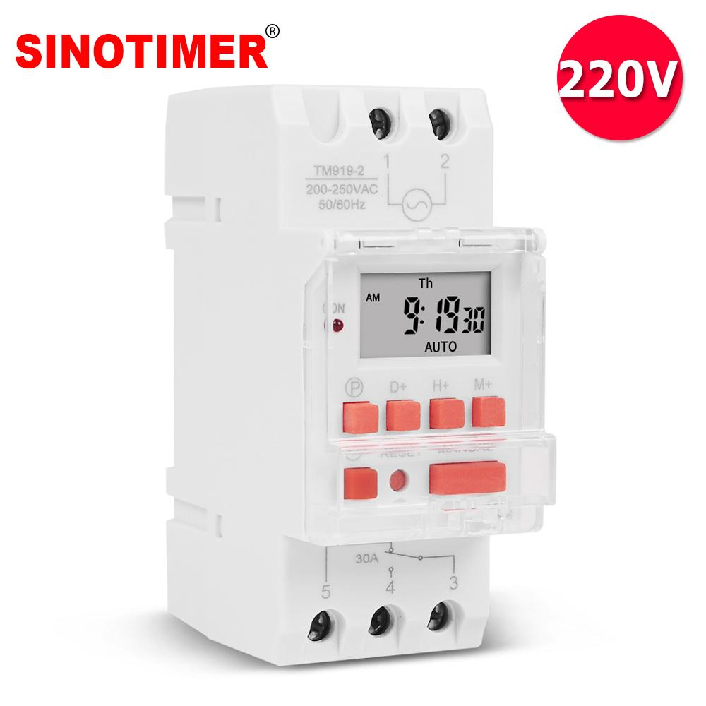 LCD Digital Timer Time Relay Switch Weekly Programmable Electronic Timer Modern
