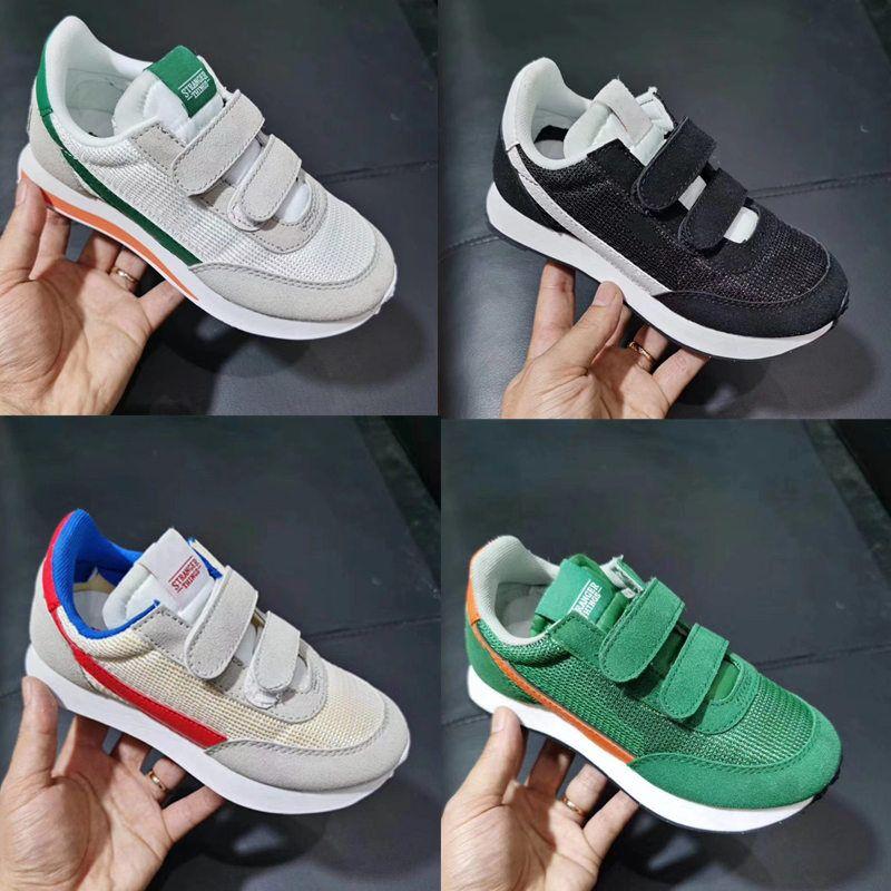 Nourrisson internationalistes chaussures Waffle Racer Chaussures de course pour le sport Chaussures de sport de chaussure pour enfant garçons filles de formateurs occasionnels