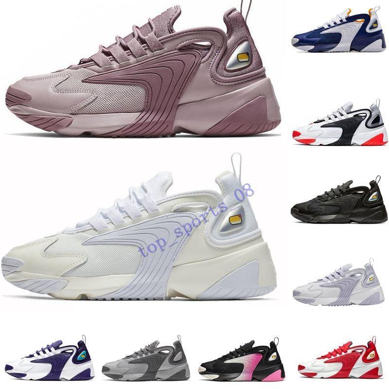 2019 حار Zoom M2K 2K Tekno 2000 الثلاثي أسود أبيض رمادي غامق للرجال النسائية الاحذية 90s نمط مصمم الرياضة أحذية رياضية