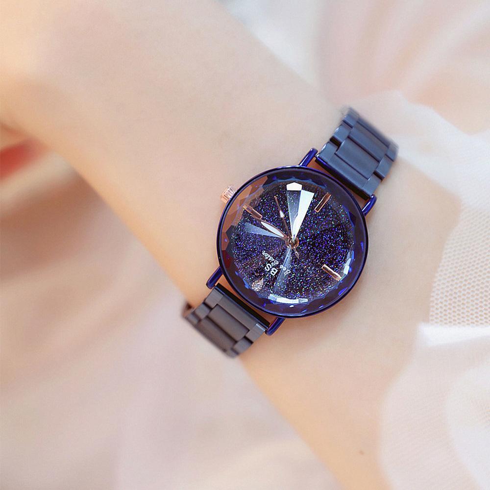 Section en cristal d'acier inoxydable de luxe de montre de poignet de poudre lumineuse apportent des accessoires de montre de poignet de quartz