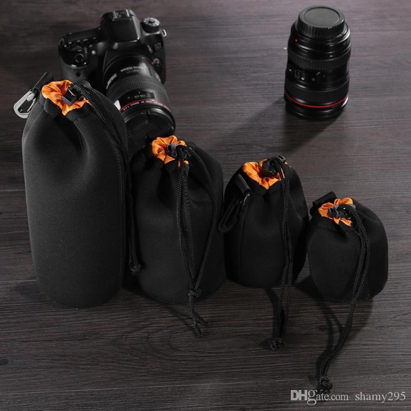 Envoltura De Neopreno Protector titular de tela cubierta de bolsa para la lente de la Cámara 50cmX50cm Gris