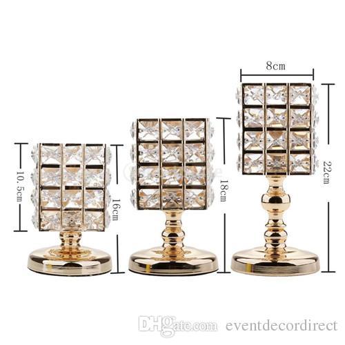 3 Unids VOTIVO de Cristal Portavelas Titular de la Lámpara de Té Mesa de Boda Centros de Mesa de Comedor Decoraciones Regalos