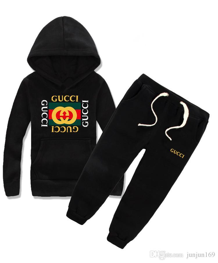 Conjuntos de Roupas de bebê camisola Vestuário Infantil Outono E Inverno Novo Padrão Masculino Camisola Menina terno crianças 2-11 anos jaqueta roupas