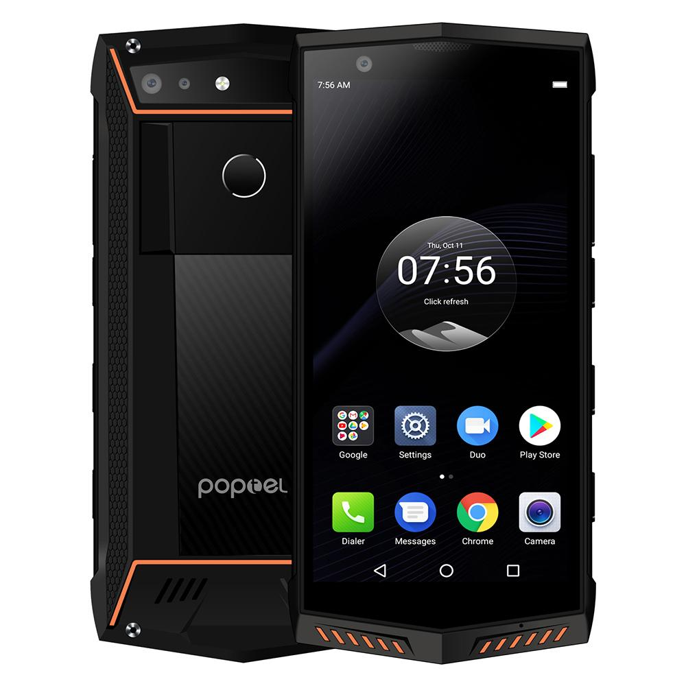 Poptel P60 Rugged 4G Mobile Phone IP68 Waterproof 5.7 Inch 6GB 128GB 5000mAh NFC Wireless Charge Android Fingerprint Smartphone