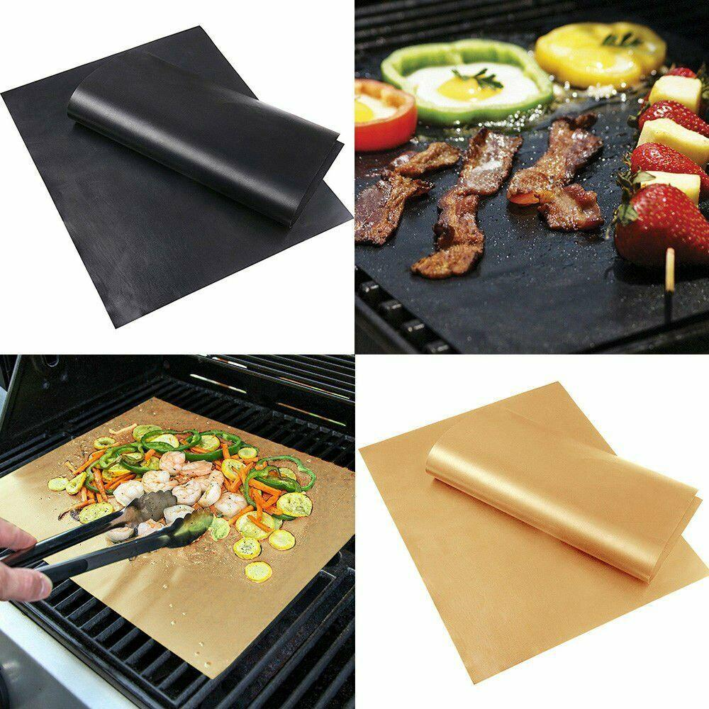 5X BBQ Grill Mat//Sheet Resistant Reusable Non-Stick Barbecue Baking Bake Meat UK