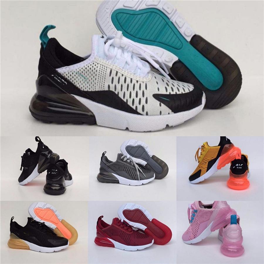 Con la scatola 2020 Azael 270 Statico riflettente bambini mesh traspirante corsa Originals scarpe 270 bambini tampone in gomma per scarpe da jogging # 369