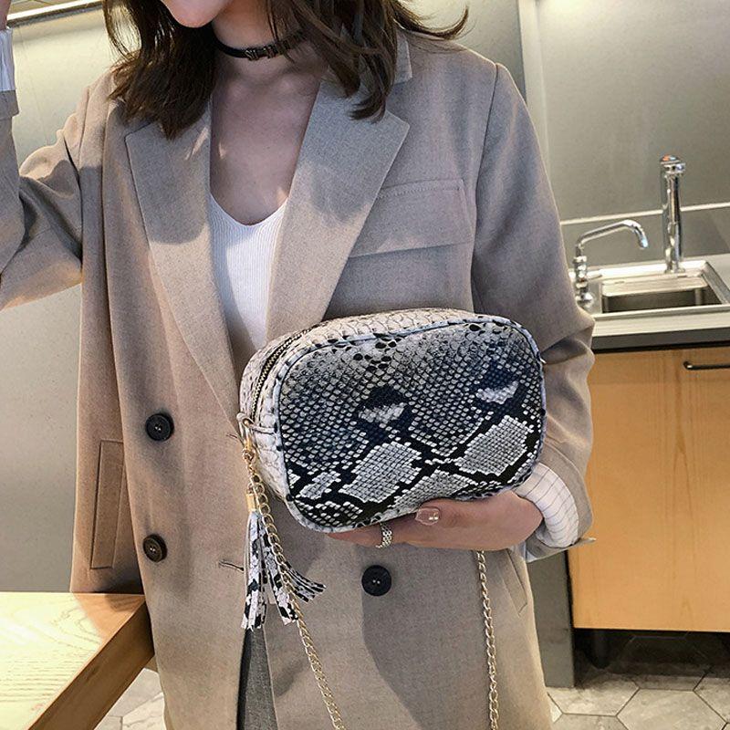 파이썬 큐브 크로스 바디 클러치 도매 공백 가짜 가죽 지갑 지갑 뱀 여성 금속 체인 핸드백 DOM1061260