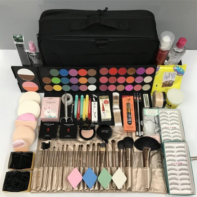 مجموعة ماكياج الأكثر مبيعا مجموعة كاملة من المبتدئين ماكياج أدوات أحمر الشفاه قاعدة العين موهير maquillaje المهنة