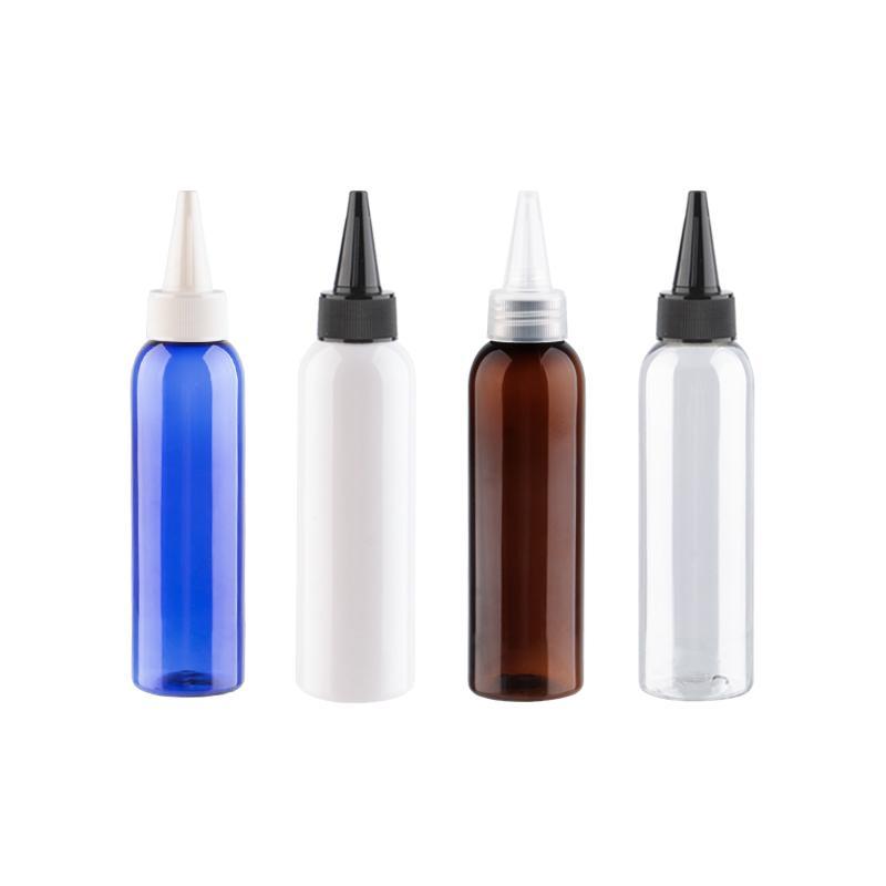 Sivri Ağız Kapaklı plastik kap boşaltın 150ml Jam Esstential Yağ PET Kozmetik Şişeler Yüksek Kalite 150cc Şişe