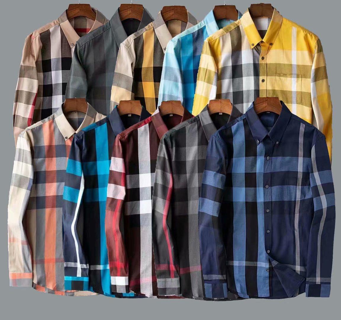Wholesale- 2020 Spring Autumn Cotton Shirt Men's Floral Print Shirt Plus Size Long Sleeve Men Vintage Shirts 20SS High Quality Chemise Homme