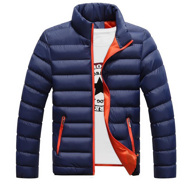 XXXXL Kış Ceket Erkekler 2018 Moda Yaka Erkek Parka Ceket Katı Kalın Ceket ve Coats Man Kış Parkas M-4XL Mens Standı
