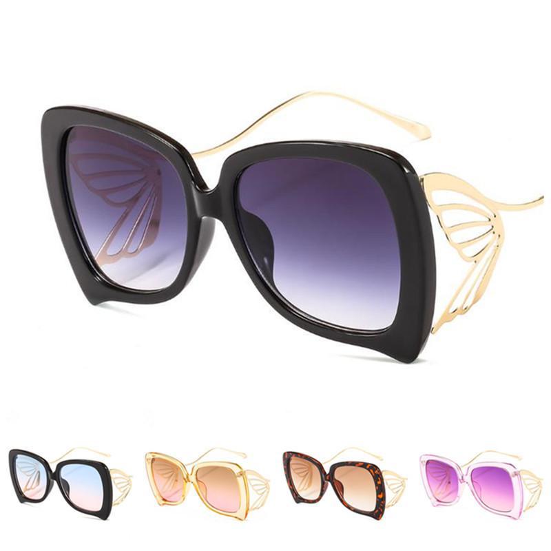 Butterfly Spectacles A ++ Personnalité Fashion Anti-UV Dégatrien Couleur Sun Sun Goggles Lunettes Lunettes de soleil Lunettes de soleil Européenne Ornemental Glasse WQMS