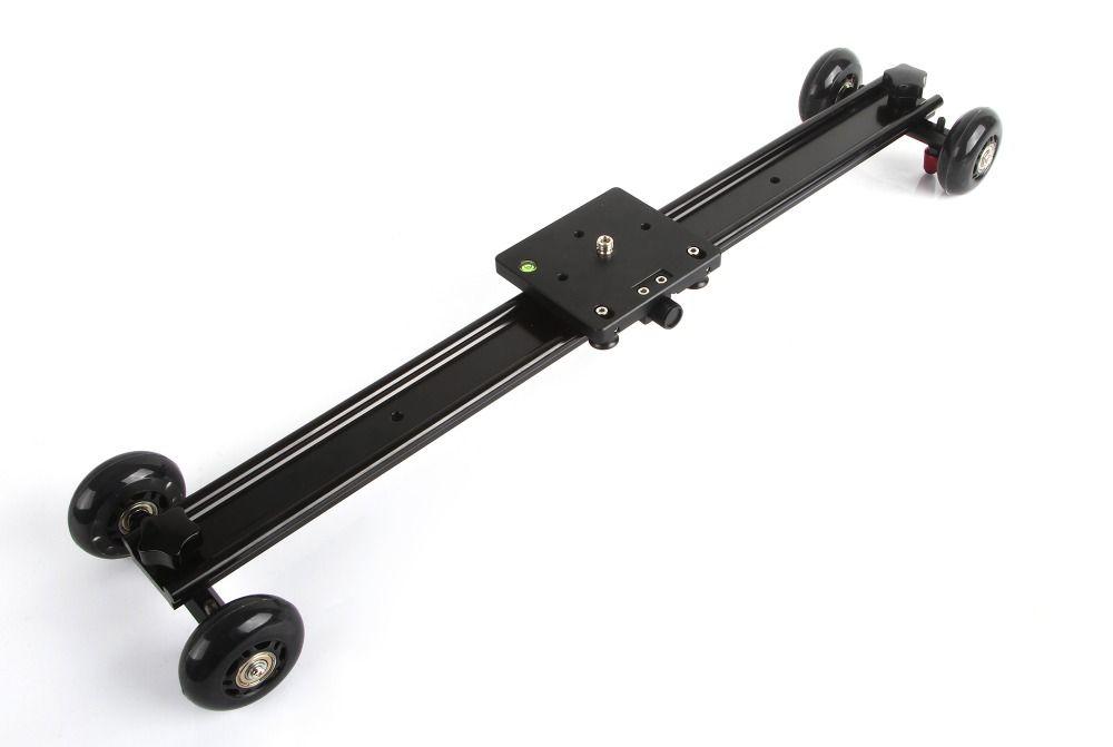 Freeshipping 60cm 23'' Aluminum 4 Wheel Camera Slider Dolly Car Track Rail Video Stabilizer for DSLR DV Camcorder