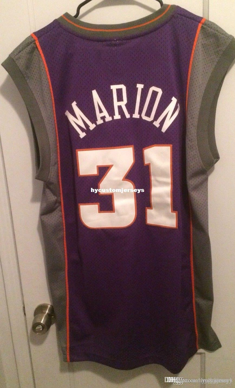 Cheap wholesale Shawn Marion #31 Jersey RB Men M Sewn Purple Rare Matrix OG T-shirt vest Stitched Basketball jerseys Ncaa
