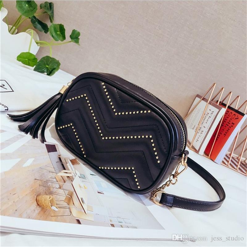 Çantalar bayanlar çanta messenger çanta omuz çantaları moda trendi basit püskül gündelik 2020 yeni bel çantası (siyah)