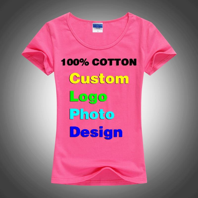 슬림 섹시한 사용자 정의 사진 텍스트 인쇄 여성 여성 T 셔츠 여름은 기본 레이디 T 셔츠 쿨 짧은 소매 티셔츠 팜므 셔츠 탑