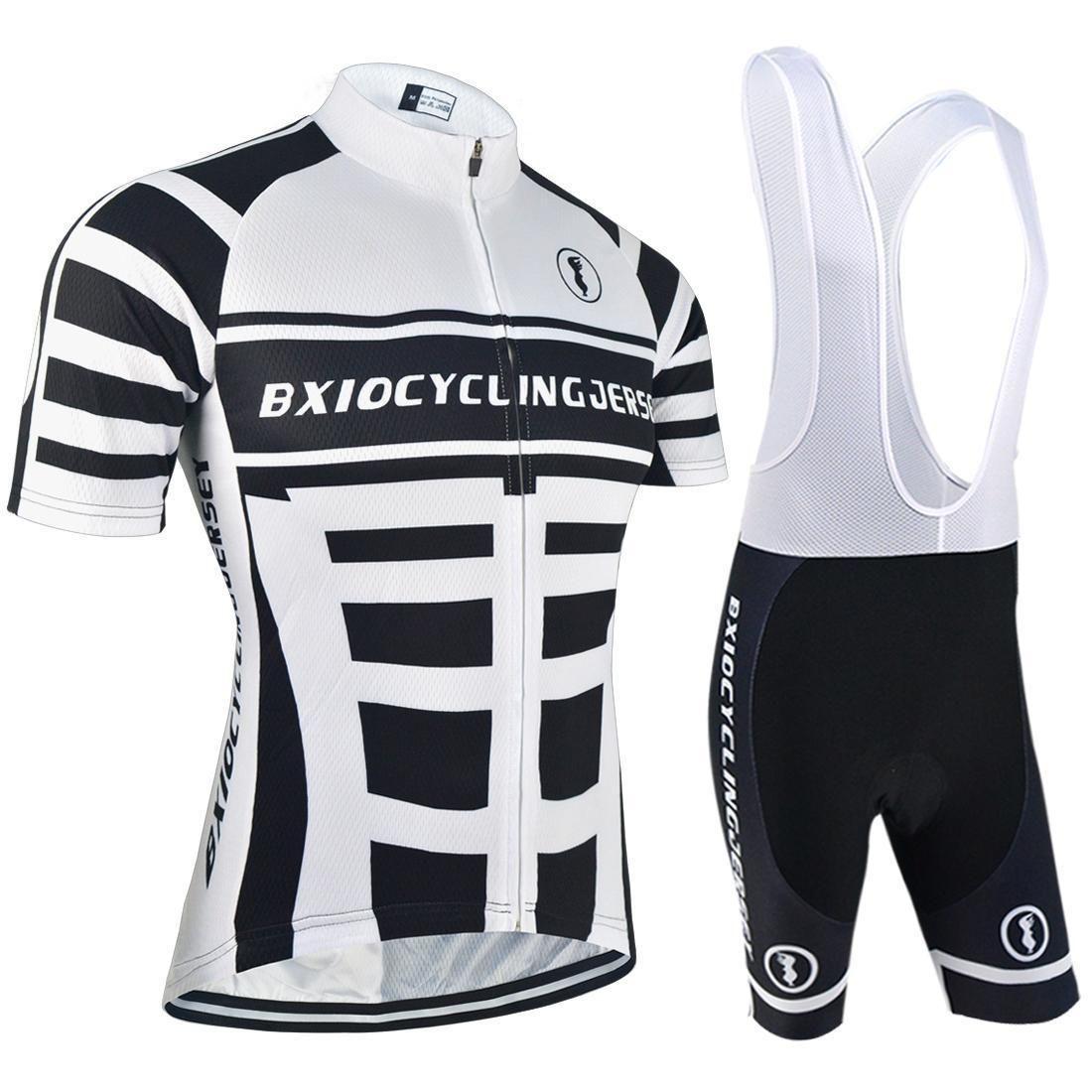 2020 Bxio Maillots Enfriar conjuntos de Hombre Ropa de ciclo para el ciclista de manga corta Lycra Ciclo de ropa de verano Cycling Apparel Kits Bx -002