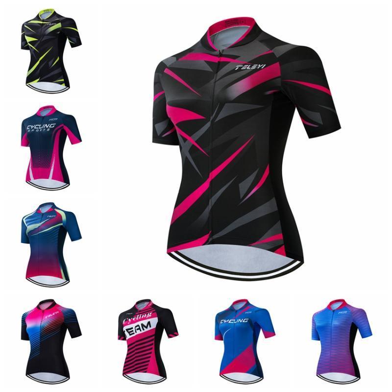 2020 Cycling Jersey donne bici Jersey MTB strada shirt bicicletta squadra Ropa Ciclismo Maillot corsa in cima femminile traspirante abbigliamento