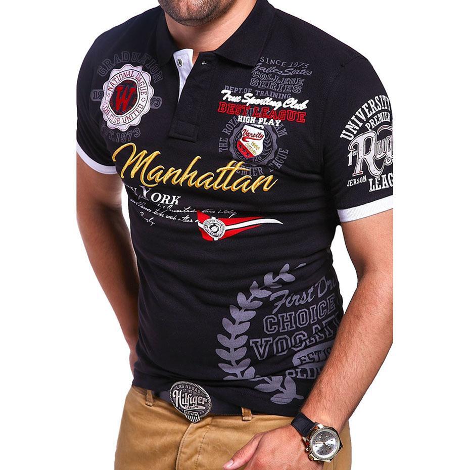 ZOGAA 2019 New Cotton T-shirt Men's Fashion T Shirt Short Sleeve Personality Designer Shirts Letter Printing Men Top T-shirts Y200104