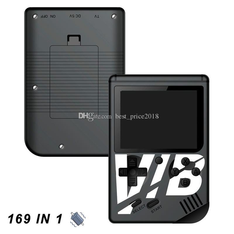 Vibrador portátil game player colorido console de videogame portátil VIB pode armazenar 169 jogos suportam saída de TV Vibrating game console