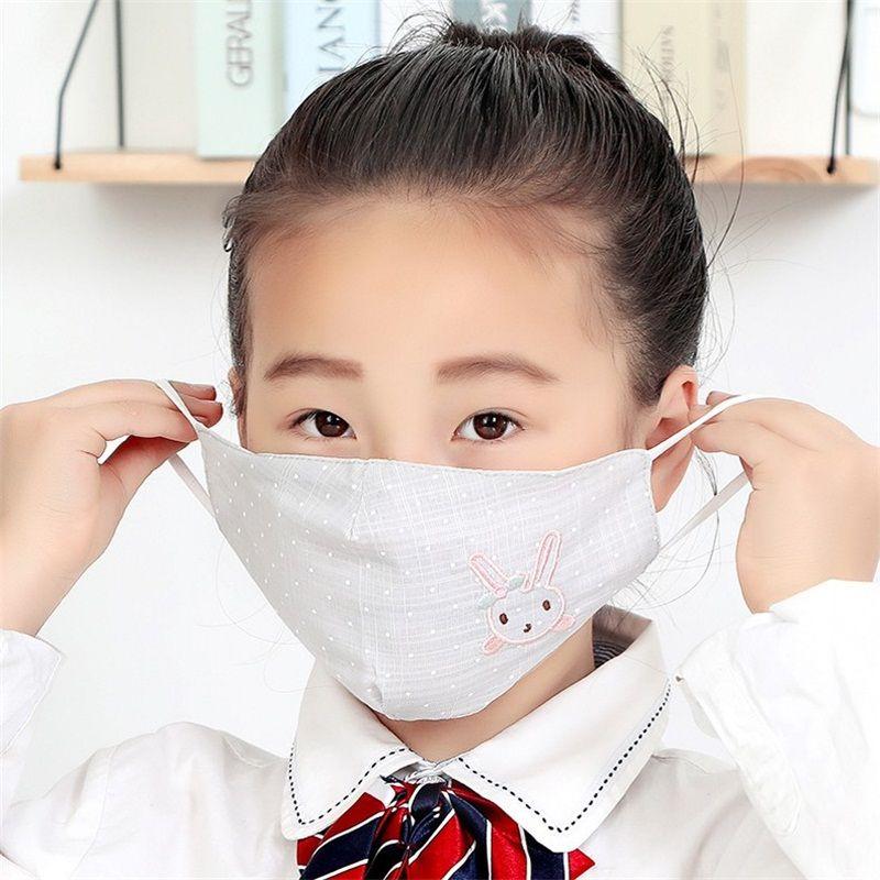 Дети Защитная маска для животных Кролик Вышивка против брызг и Splatte стерео Mouth Маски Mascherine Пыль Респиратор 2 98ry E1