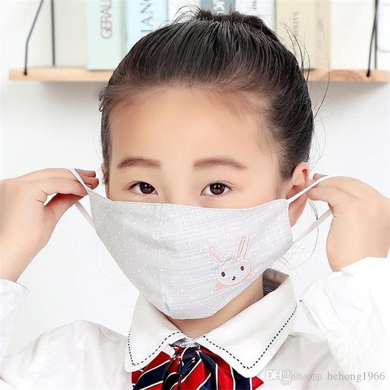 Çocuklar Koruyucu Yüz Maskesi Hayvan Tavşan Nakış Karşıtı Splash Ve Splatte Stereo Ağız Maskeleri Mascherine Toz Maskesi 2 98ry E1