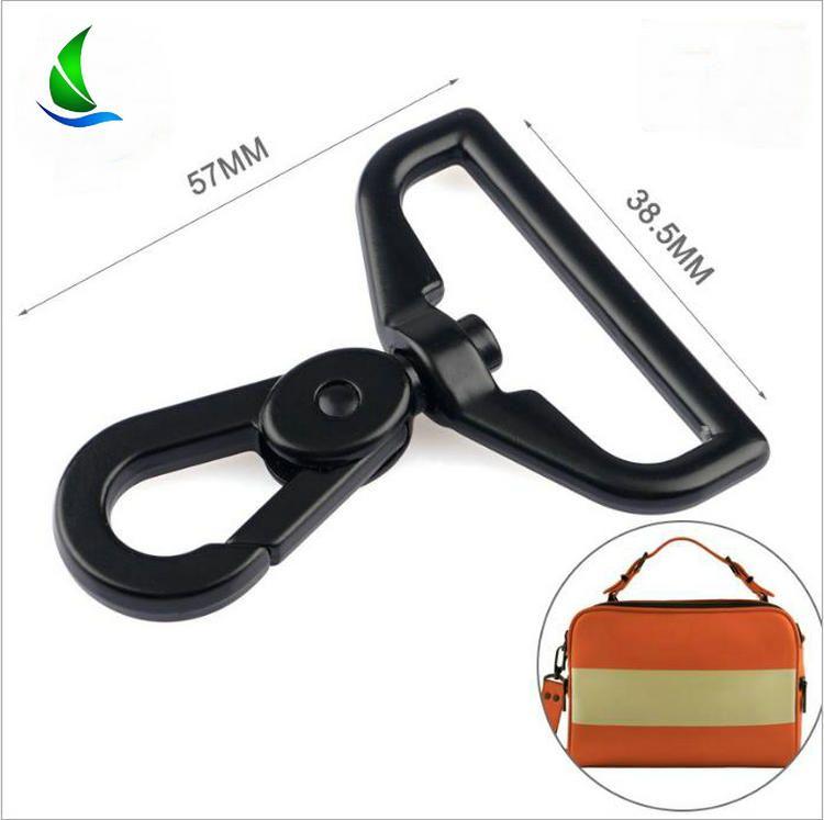 10pcs Leather Bag Handbag Purse Shoulder Strap Belt Clasp Clip Matel Snap Hooks Rotary Swivel For Backpack Nickel Plated Lobster Clasps