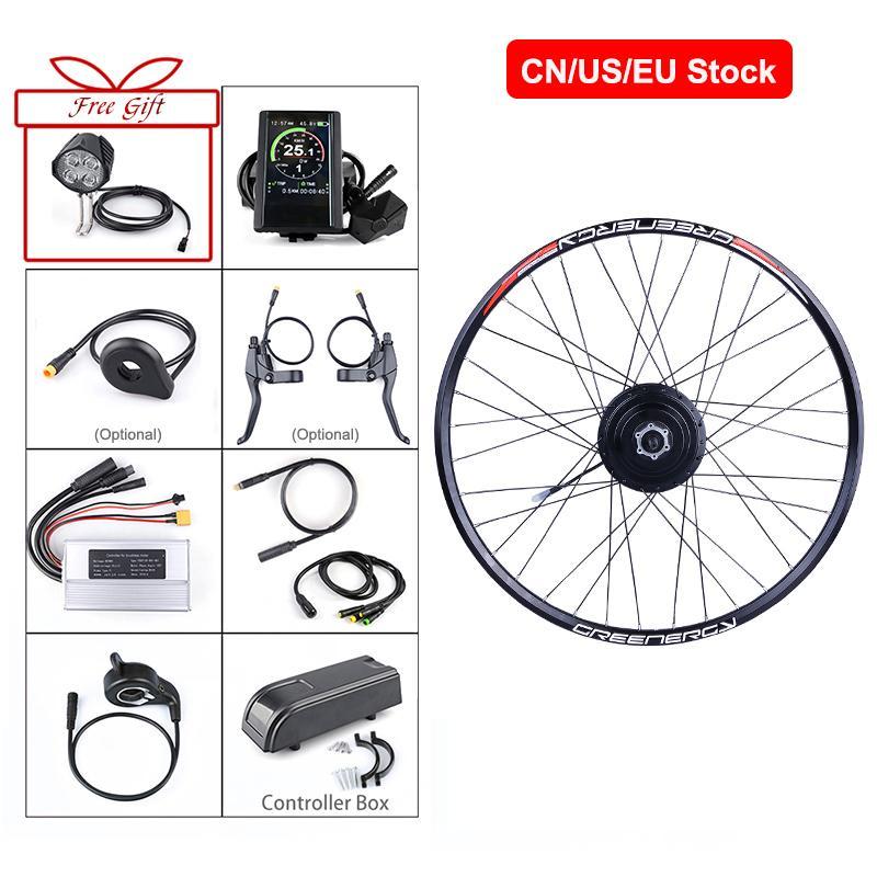 """Tipos de la rueda trasera Bafang 48V 500W cubo del motor Bici eléctrica del kit de conversión de bicicletas de 20 """"26"""" 27.5"""" de la rueda trasera 700C"""