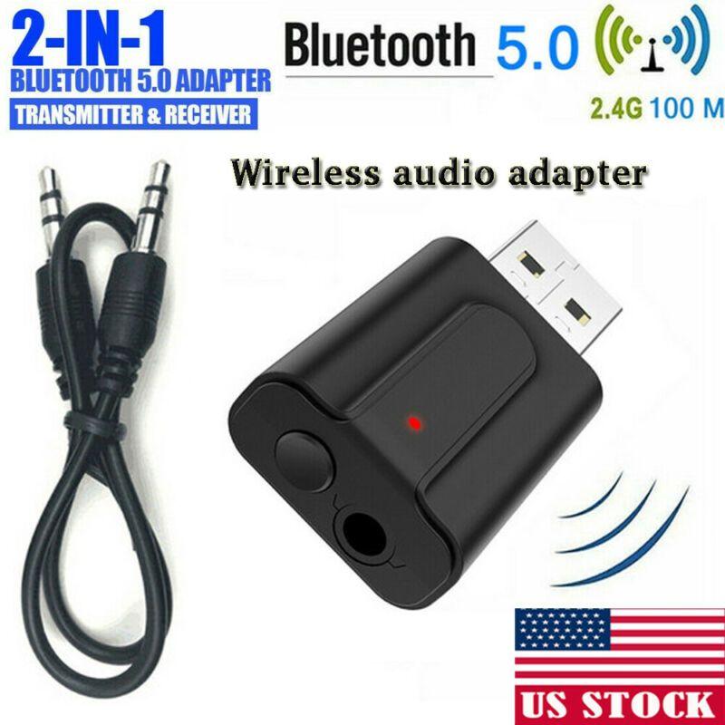 3.5MM USB بلوتوث اللاسلكية 5.0 الموسيقى صوت ستيريو استقبال دونغل محول لأجهزة الكمبيوتر المحمول PC TV