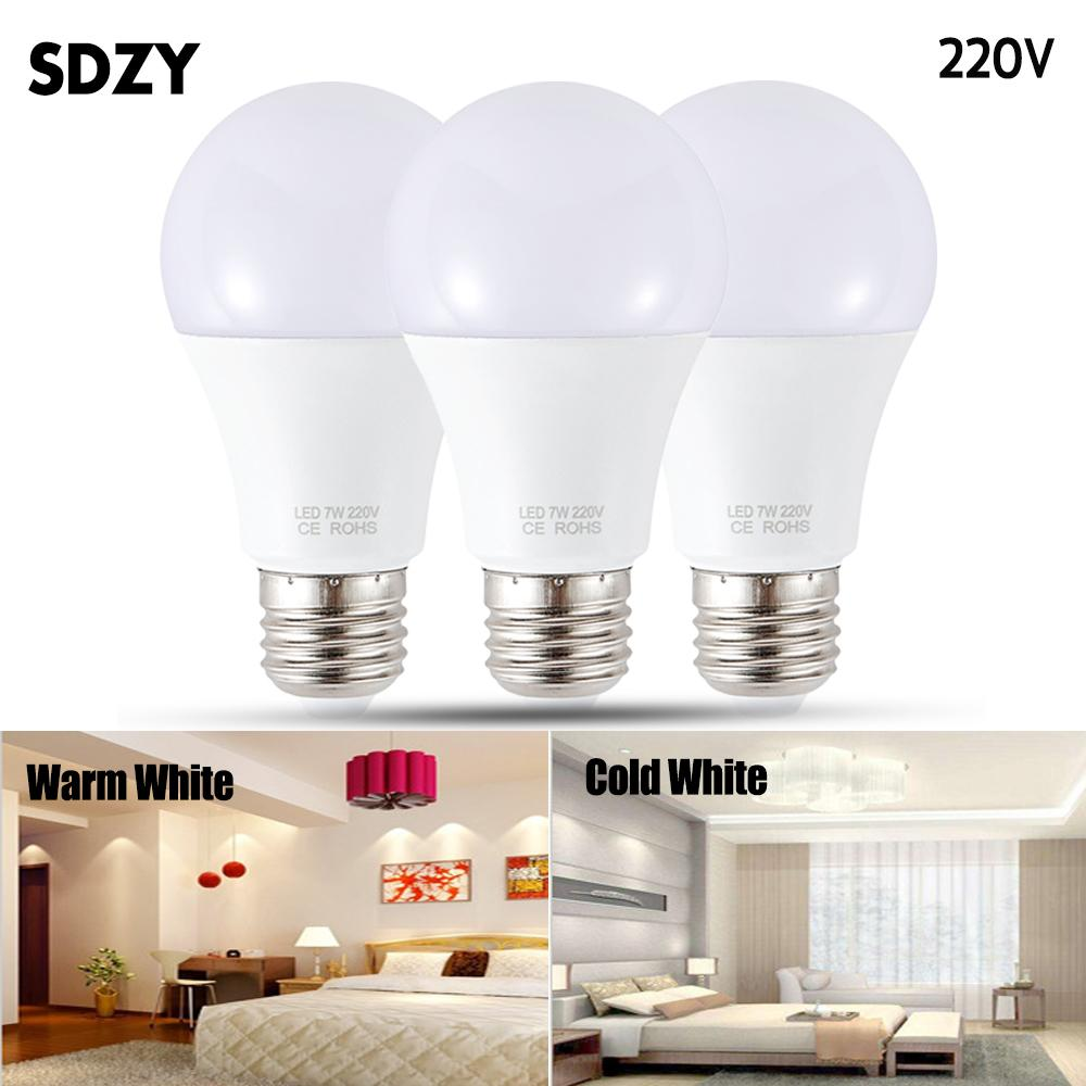 Lâmpada LED E27 levou bulbo Ac 220v 230v 240v 15w 12w 9w 7w 5w 3w Lampada Led destaque abajur lâmpadas de luz