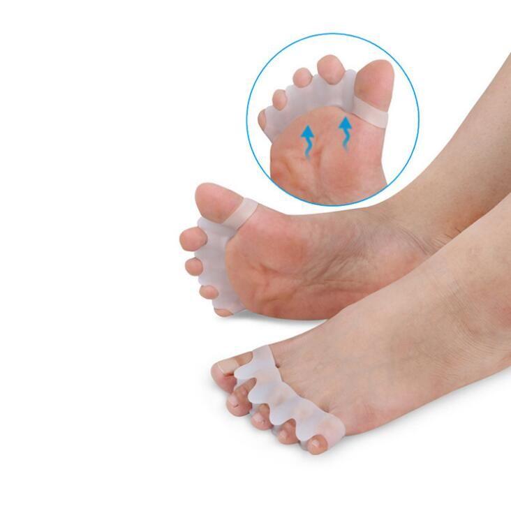 Silicone Joanete Corrector Toe Separadores Foot Care Ferramenta de hálux valgo Corrector Straightener Espalhador frete grátis LX1209