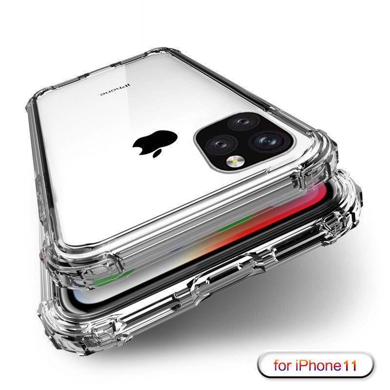 Coque silicone transparente antichoc pour Iphone 11 Max Pro