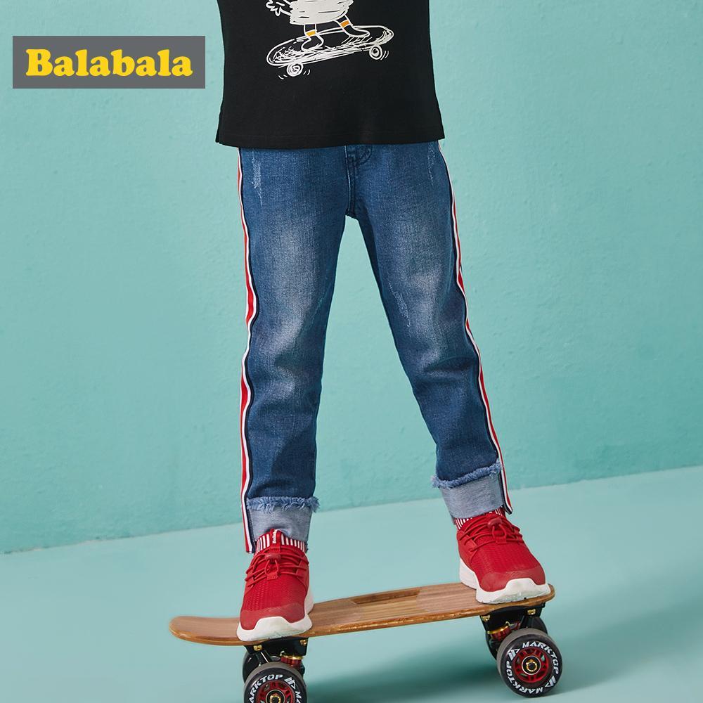 Balabala jeans del foro regolare pantaloni con polsini per la moda bambino sottili le ghette dei jeans per i ragazzi pantaloni enfant autunno per i bambini Y200409