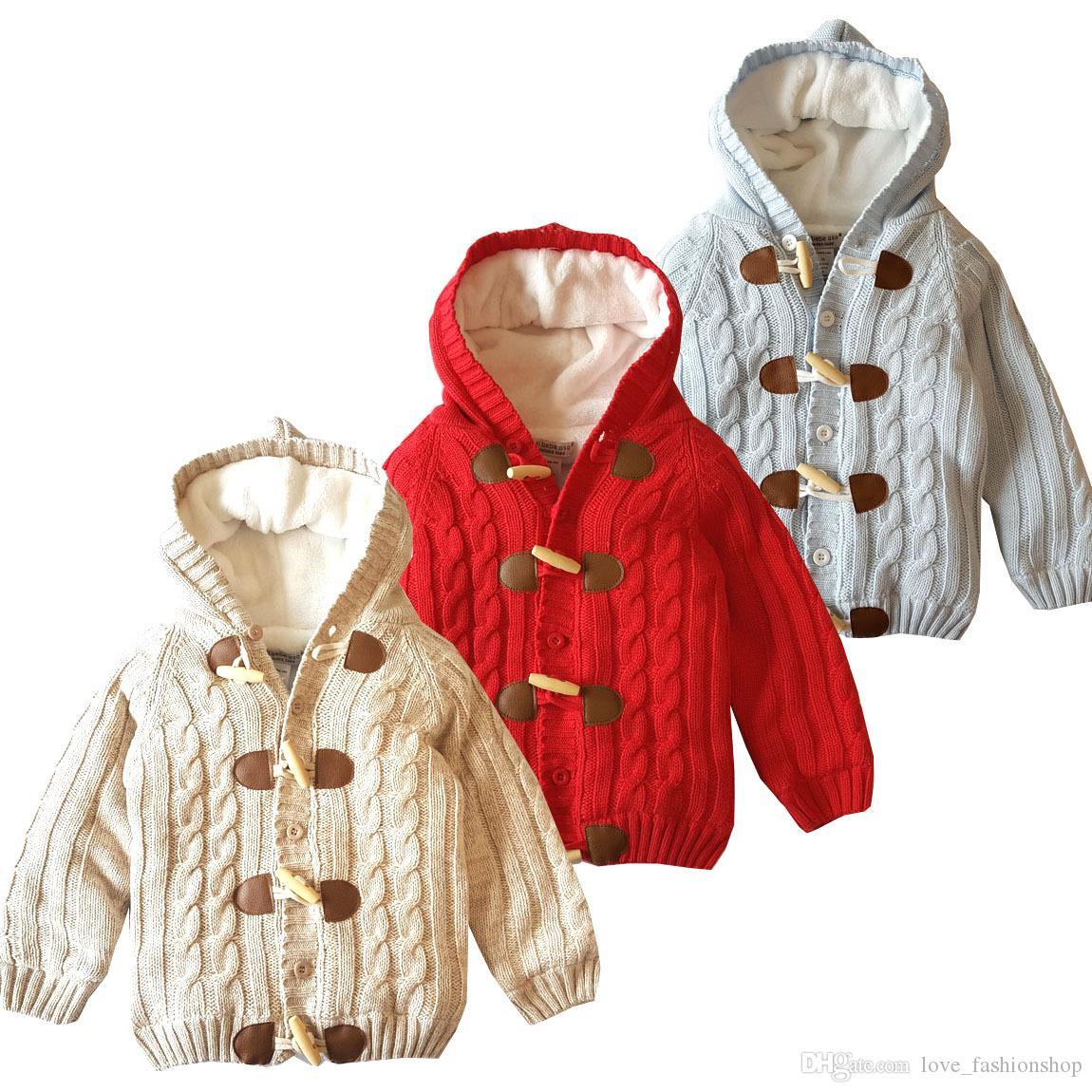 التجزئة الاطفال مصمم المعاطف الشتوية سميكة زائد المخملية الفتيان الفتيات سترة مقنعين معطف البوق مشبك السترات أبلى ملابس الأطفال