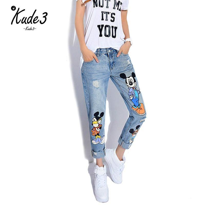 Kude 2019 Kot Kadınlar Casual Denim Ayak bileği-Uzunluk Sevgilisi Pantolon Kadınlar Baskı Pantolon Casual Harem Kadın Plus Size 5XL 5822