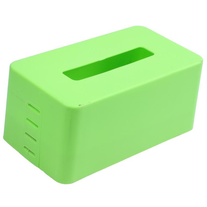 decorazione Distributore di carta scatola del tovagliolo di carta igienica caso titolare home office plastica Botique rettangolare (verde) 21.5 * 9.3 * 12cm
