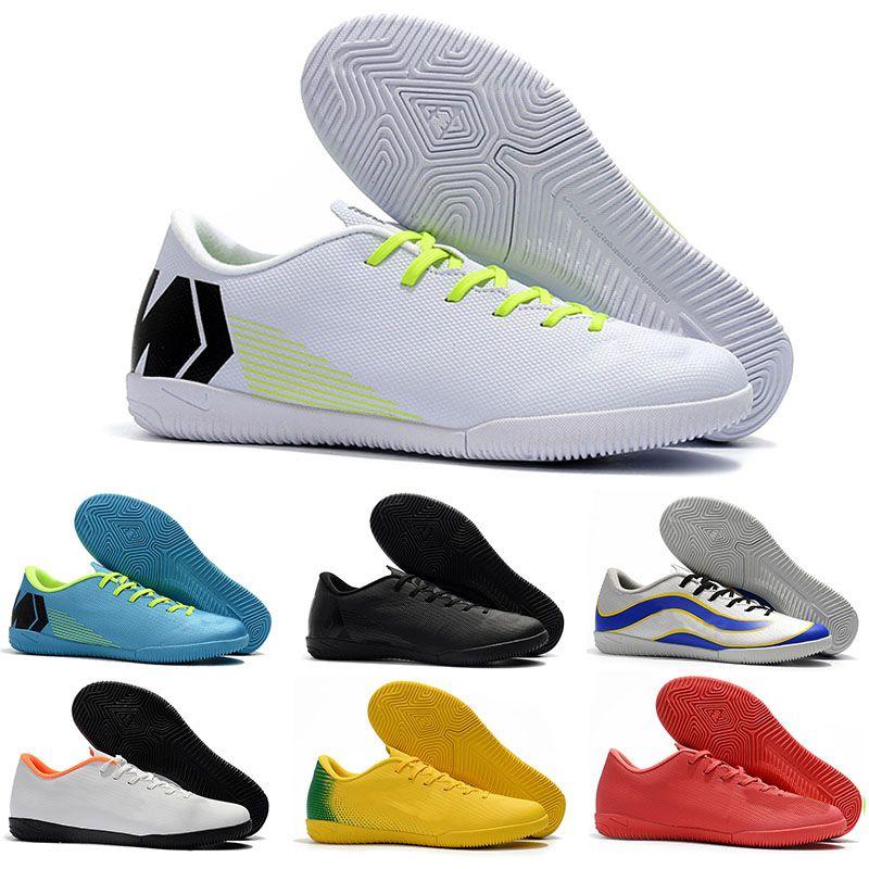 Mens Low cheville de football Bottes VAPORX 12CLUB IC TF Chaussures de soccer Neymar ACC Mercurial SuperflyX Turf soccer intérieur CR7