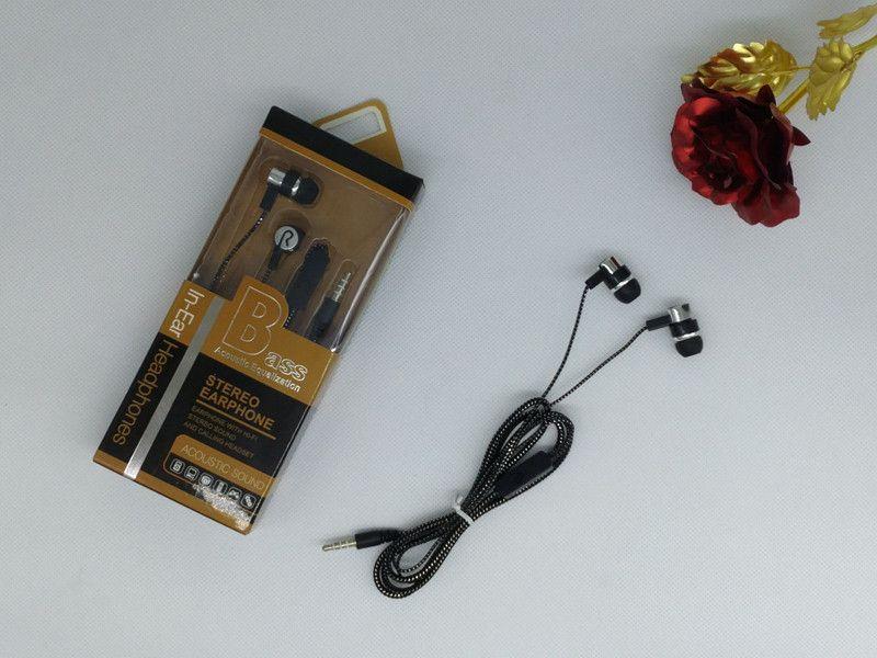 Braided wiring earphones in-ear headphones with mic wire control cell phone earphones